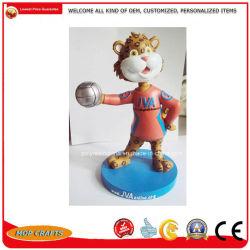 OEM personnalisés Bobble Chef de Promotion de la résine des dons Bobble Polyresin poupée tête de l'artisanat