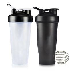 На заводе прямые продажи дешевой 400мл/ 600 мл BPA бесплатной школьной спорта черный пластиковый питьевой белка чашку вибрационного сита