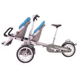 Dois lugares do bebé de três rodas carrinho de bebé Bike