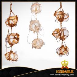 Промышленные висящей лампы пеньки веревки подвесной светильник (MD10993-1LS + 2SS)