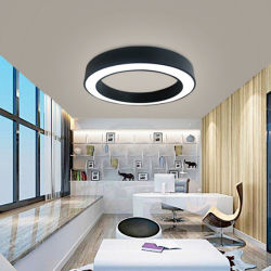 Colgante de LED redonda luminosa y moderna lámparas colgantes de cocina