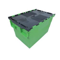 60*40CMM 40*30CMM Tote de plástico de verificación para el almacenamiento