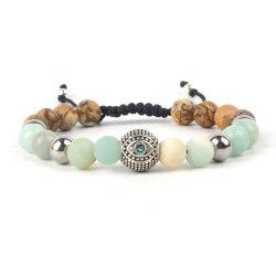 Hochwertiges Armband Aus Shamballa Mit Perlen Und Naturstein
