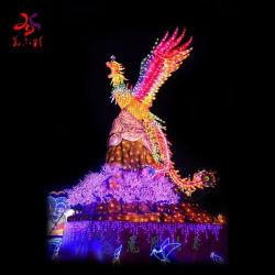 Neues Jahr-Festival-Dekoration-Gewebe-traditioneller Chinese-Phoenix-Laterne