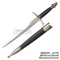 Western Historical Punhais União Dagger House Decoration Espada 41cm