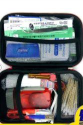 La alta calidad impermeable Bolsa Rescuse Kit de Primeros Auxilios botiquín de emergencia Ayuda de la banda de la máscara de la venda de gasa de algodón Alcohol Stick de algodón de la ayuda de pinzas