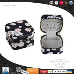 Mode Square Leder Custom Schmuck Taschen Wildleder Schmuck Tasche (8779)