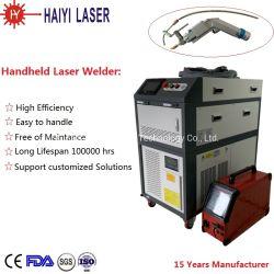 Vendas quente 1000W laser equipamento de soldagem 1500W máquina de soldar de mão a cabeça de oscilação de soldadura a laser com fio automático do sistema do alimentador