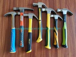 El poder y herramientas de mano de la máquina forjado americano/British 8, 12, 16, 20, 24 Oz Claw Hammer con fibra de vidrio TPR Mango antideslizante con TUV/GS