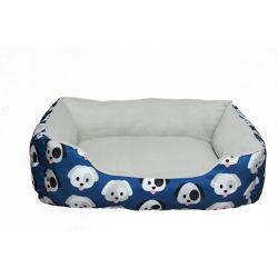 لطيف سرير الحيوانات الأليفة مع نمط مطبوع من الكلب