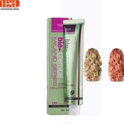 살롱 직업적인 영원한 암모니아 자유로운 머리 염색 100ml 머리 색깔 크림