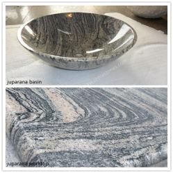 Juparana Colombo 회색 화강암 도와 Gangsaw 또는 석판 돌 건축재료 채석장