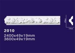 Poliuretano decorativas Crown Molding / friso do painel entalhado para parede/tecto