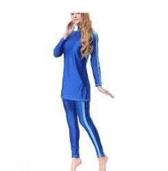 Het MoslimZwempak Swimwear 200118# van Lycra van de Nylon Islamitische Dame van de bescheidenheid