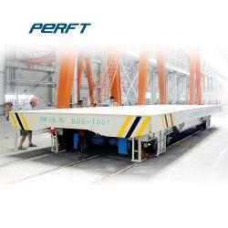 Voertuig van de Aanhangwagen van de Overdracht van het Spoor van de Industrie van het metaal het Elektrische Vlakke