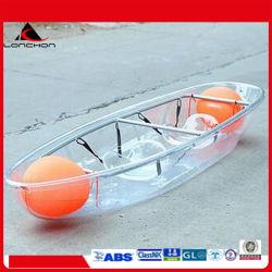 2.7m einzelner transparenter Kanu-Kajak für 1 Personen-Rudersport mit freier Unterseite
