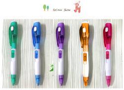 Penna del laser dell'indicatore luminoso della novità di notte della penna luminosa di Lanternas della lampada della lampadina della penna luminosa LED di stampa LED di marchio