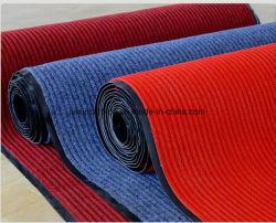 PVC底が付いているよい市場ポリエステル倍の縞のカーペット