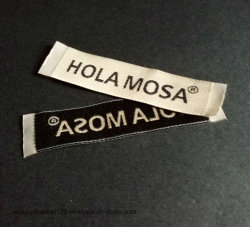 Damasco etiqueta tejida para prenda/ vestidos con corte caliente