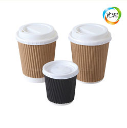 Paroi double 4-16oz Froid Chaud café jetables de boire la coupe du papier