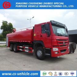 Caminhão Tanque de sprinklers água HOWO 4X2 Veículo de Combate a Incêndios