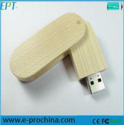 Logo personnalisé design en bois Disque mémoire flash USB (EW009)