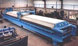 Filtre de pression de l'équipement de filtration Pressprogram contrôlée filtre à membrane Auto 1250 l'équipement pour la séparation Solid-Liquid