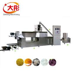 Enriquecido reconstituyó la Nutrición Artificial de doble tornillo máquina de fabricación de alimentos de arroz de la línea de equipos de procesamiento