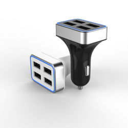 6.8A portátil de alta potencia universal de 4 puertos USB Cargador de coche