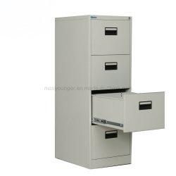 أثاث مكتبي متين 4 درج آمن لتخزين المستندات المعدنية خزانة تخزين مع استخدام مكتب إقفال المفاتيح
