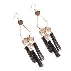 Bohemian Fashion Designs pampilles en métal Zircon Earring femmes bijoux de perles