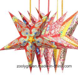 Festival de Noël / Décoration de Fête des lanternes suspendues Star de papier