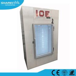 Visualizzazione del contenitore per la conservazione del ghiaccio dello sportello in vetro
