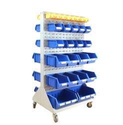 プラスチックこつの収納用の箱が付いている便利な壁に取り付けられたルーバー付きのパネルラック