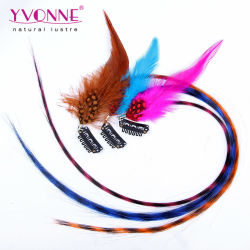 Feather Hair Clip synthétiques, d'extension dans l'extension de cheveux