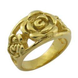 Мода дизайн 18k золотых ювелирных изделий вырос цветок кольцо