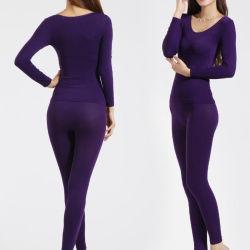 Women's Modal sous-vêtement thermique à manchon long (002)