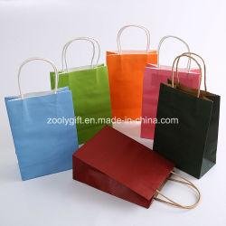 Цветная печать витая ручка крафт-бумаги или сумки