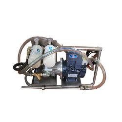 Carrello portatile del filtro dell'olio nel circuito idraulico con gli elementi del filtro dell'olio
