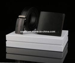 Set de Regalo Cinturón de cuero auténtico Wallet con caja de regalo