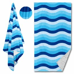 Goedkope digitale Groothandel Bulk Maatwerk bedrukt Microfiber Beach handdoek