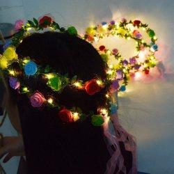 Voyant LED Guirlande Fleurs bandeau Fleur Fleur de Coiffure pour les filles de coiffure