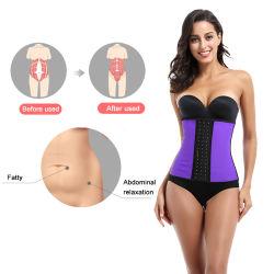 2021 apoiar as mulheres de látex de cor do logotipo personalizado da cintura espartilho formador com 9 escalas de peixe