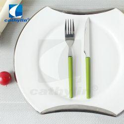 モダンポータブル 18/0 ステンレススチール製プラスチック製ハンドルフルーツナイフ & フォーク