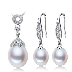 Горячий продаж S925 серебряные украшения Pearl Set кулоны ожерелья