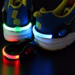 Zapato de seguridad deportiva de la luz Clip noche corriendo recargable luz de seguridad