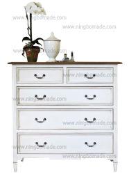 Antike nordische klassische Möbel Brown und weiße festes Holz-Fach-Sahnebrust