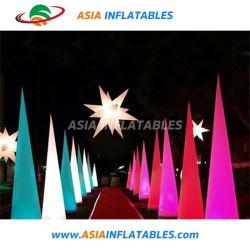Tubo gonfiabile chiaro esterno di pubblicità LED, colonna gonfiabile, colonna gonfiabile