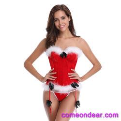 Shaper van het Lichaam van het Fluweel van Kerstmis Sexy Rode Rijpe Riem