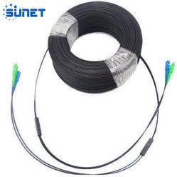 1 2 fibres G657D'un Sc optique LC FC St FTTH Drop Câble Cordon de raccordement à fibre optique
